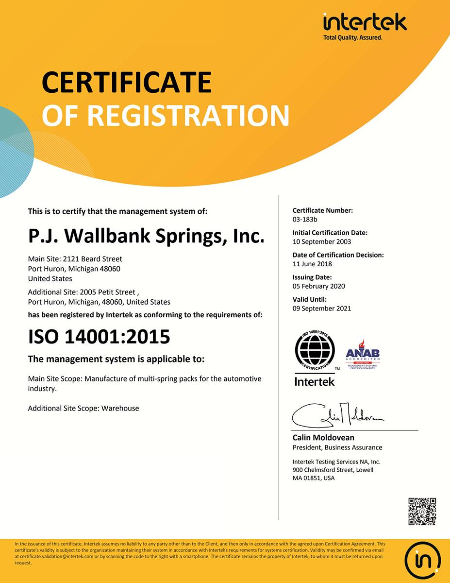PJWS Certifications